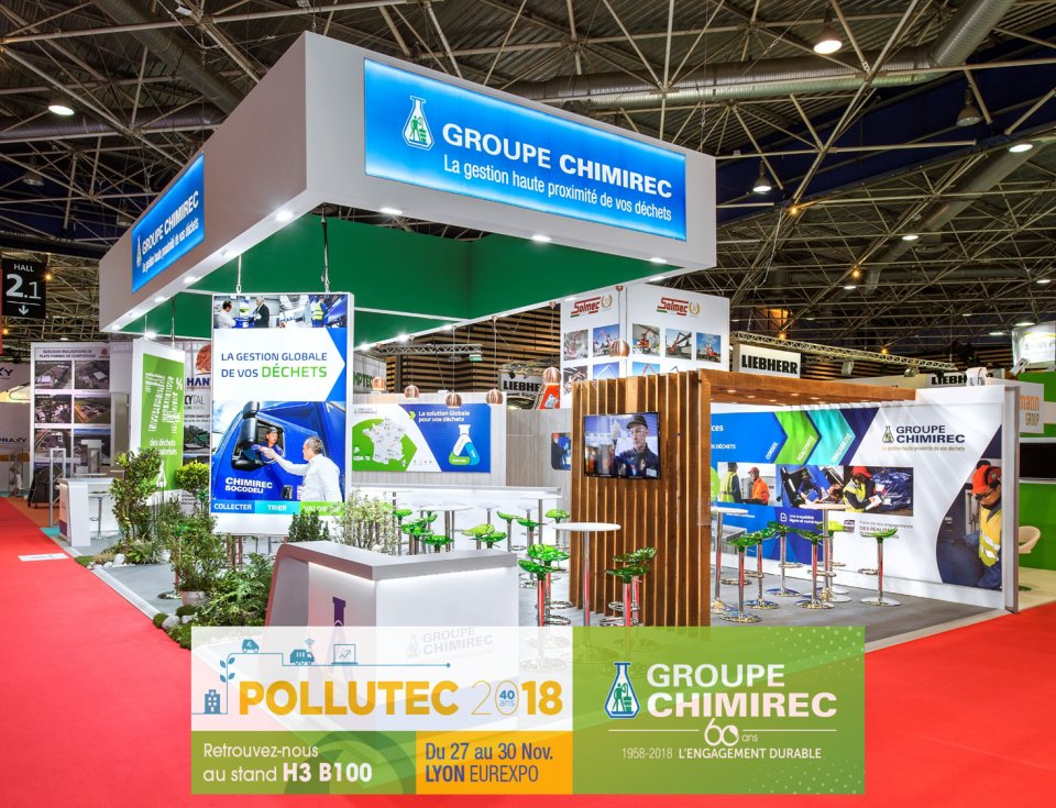 Stand CHIMIREC H 3 B 100 sur POLLUTEC
